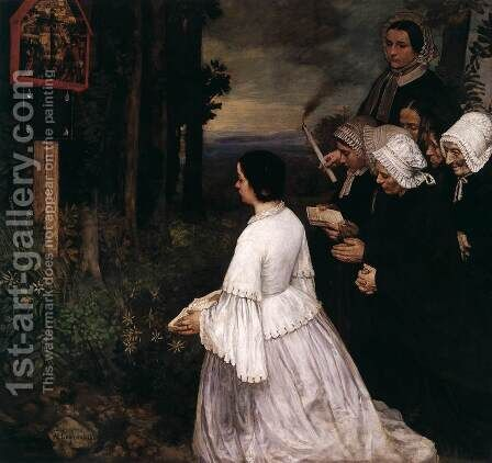 The Shrine by Alphonse Legros - Reproduction Oil Painting