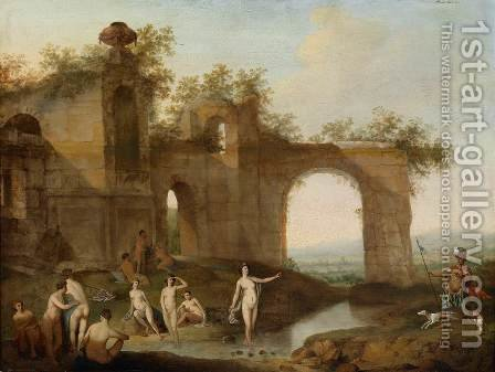 Landscape with Diana and Actaeon by Dirck van der B Lisse - Reproduction Oil Painting