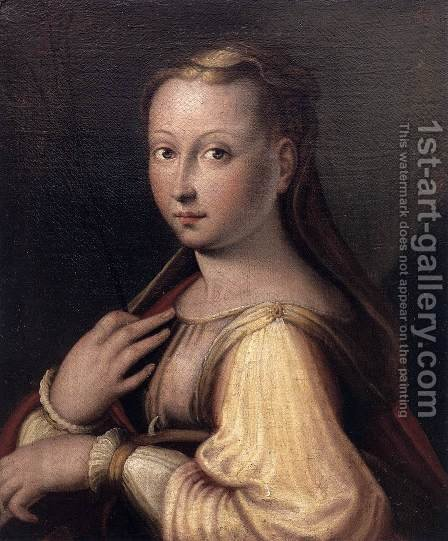 St Catherine of Alexandria 2 by Barbara Longhi - Reproduction Oil Painting