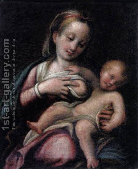 Madonna and Child by Barbara Longhi - Reproduction Oil Painting