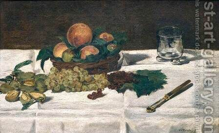 Still-Life by Edouard Manet - Reproduction Oil Painting