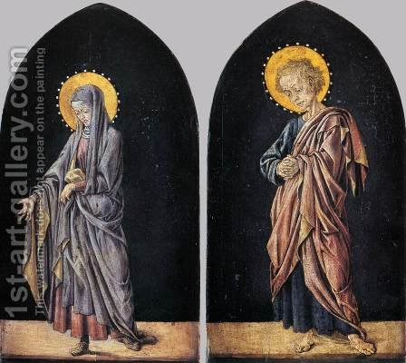 Pratovecchio Altarpiece Virgin and St John the Evangelist by Master of Pratovecchio - Reproduction Oil Painting