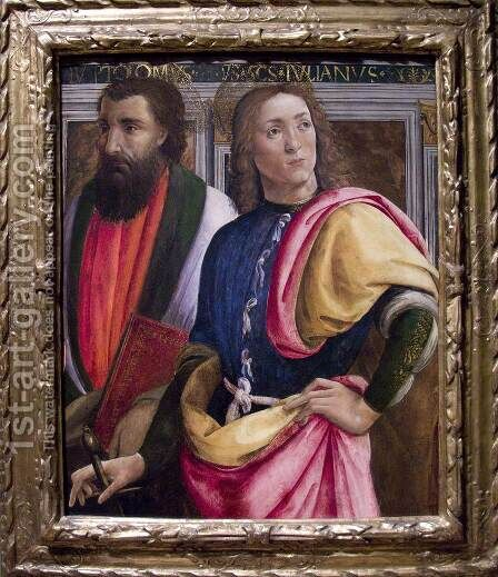 Sts Bartholomew and Julian the Hospitaler by Angelo Di Donnino Del Mazziere - Reproduction Oil Painting