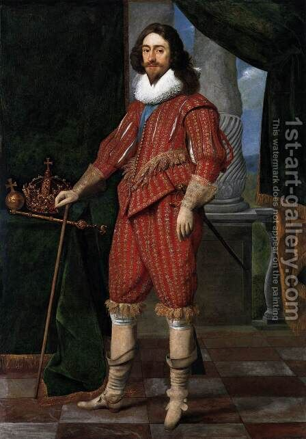 Charles I, King of England by Daniel I  Mijtens - Reproduction Oil Painting
