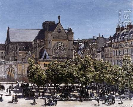 The Church of Saint-Germain-l'Auxerrois by Claude Oscar Monet - Reproduction Oil Painting