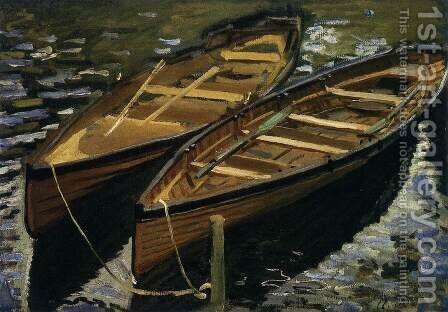 The Boats by Claude Oscar Monet - Reproduction Oil Painting