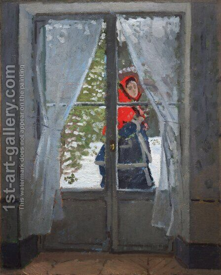 The Red Cape by Claude Oscar Monet - Reproduction Oil Painting