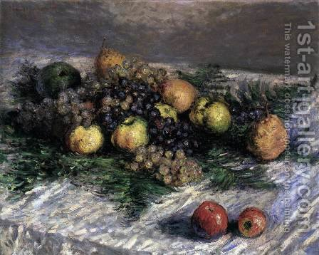 Still-Life with Pears and Grapes 2 by Claude Oscar Monet - Reproduction Oil Painting