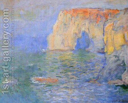 Etretat, La Manneporte, Reflections on the Sea by Claude Oscar Monet - Reproduction Oil Painting