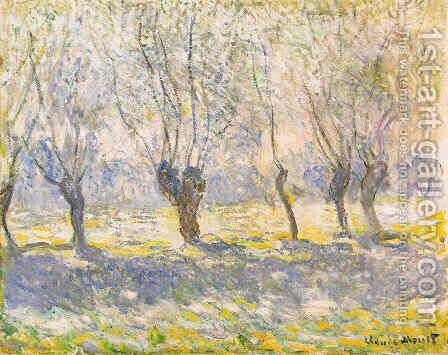 Willows in Giverny by Claude Oscar Monet - Reproduction Oil Painting