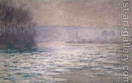 Ice Floes on the Seine near Bennecourt by Claude Oscar Monet - Reproduction Oil Painting