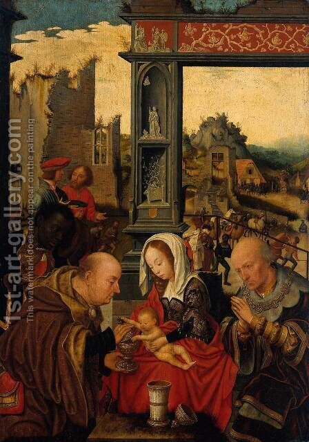 Adoration of the Magi 2 by Jan Mostaert - Reproduction Oil Painting