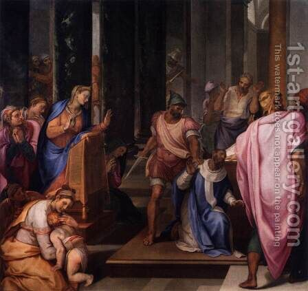 The Martyrdom of St Matthew by Girolamo Muziano - Reproduction Oil Painting