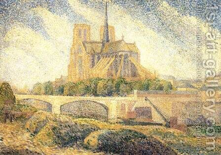 Notre-Dame 2 by Hippolyte Petitjean - Reproduction Oil Painting