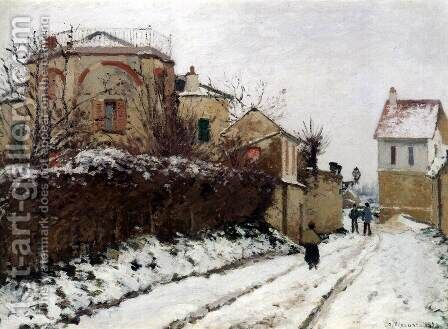 Street in Pontoise, Winter by Camille Pissarro - Reproduction Oil Painting