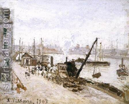 The Quay at Le Havre by Camille Pissarro - Reproduction Oil Painting