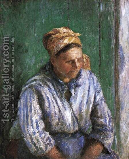 Mre Larchevque (The Washerwoman) by Camille Pissarro - Reproduction Oil Painting