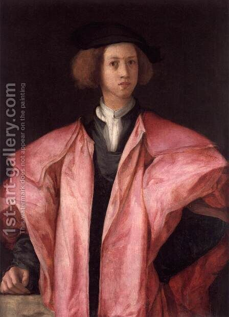 Youth in a Pink Coat by (Jacopo Carucci) Pontormo - Reproduction Oil Painting