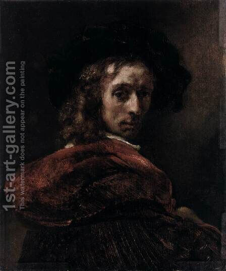Man in a Red Cloak by Rembrandt - Reproduction Oil Painting