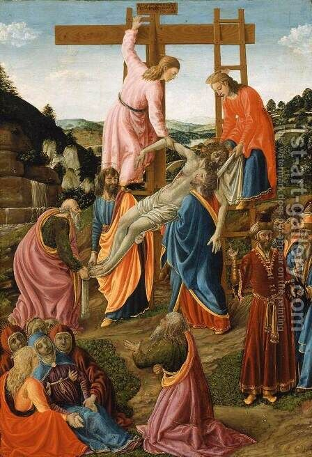 Descent from Cross by Cosimo Rosselli - Reproduction Oil Painting