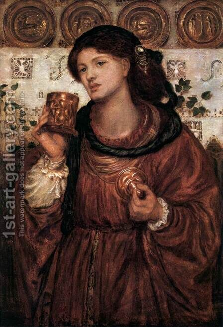 The Love Cup by Dante Gabriel Rossetti - Reproduction Oil Painting