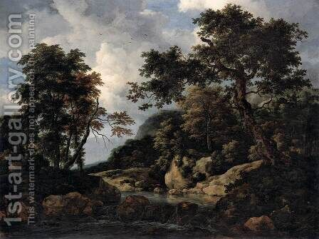 The Forest Stream by Jacob Van Ruisdael - Reproduction Oil Painting