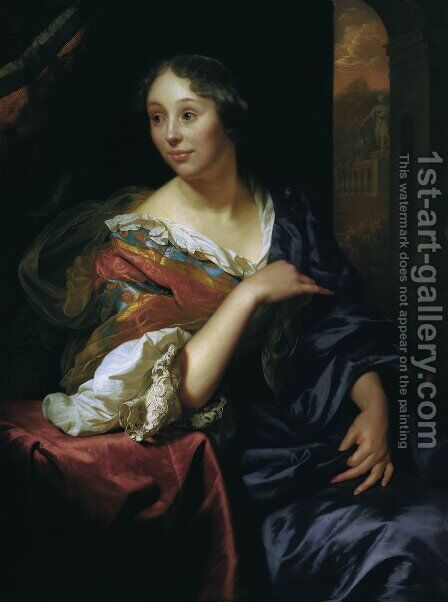 Portrait of Francoise van Diemen by Godfried Schalcken - Reproduction Oil Painting