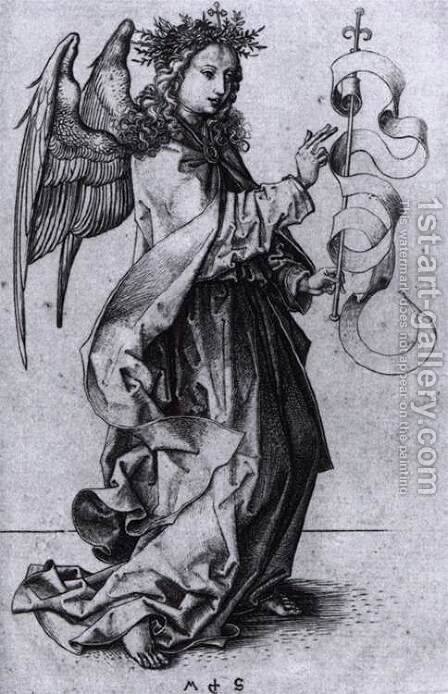 Annunciate Angel by Martin Schongauer - Reproduction Oil Painting