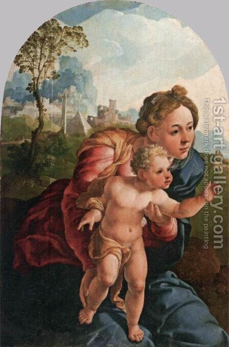 Virgin and Child by Jan Van Scorel - Reproduction Oil Painting