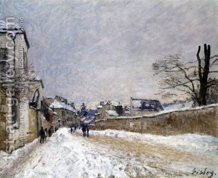 Rue Eugne Moussoir at Moret, Winter by Alfred Sisley - Reproduction Oil Painting