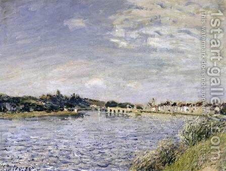 Saint-Mamms-sur-le-Loing by Alfred Sisley - Reproduction Oil Painting