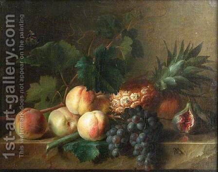 Still-Life with Fruit on Table by Cornelis van Spaendonck - Reproduction Oil Painting