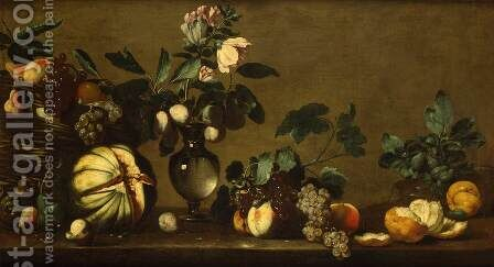 Still-Life by Bernardo Strozzi - Reproduction Oil Painting