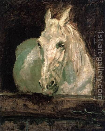 The White Horse Gazelle by Toulouse-Lautrec - Reproduction Oil Painting