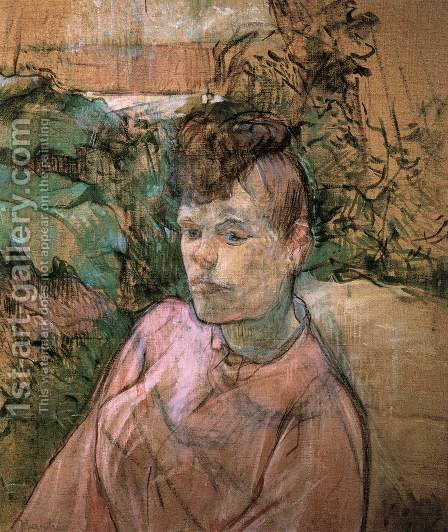 Woman in Monsieur Forest's Garden 2 by Toulouse-Lautrec - Reproduction Oil Painting