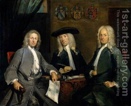 Three Governors of the Surgeons Guild, Amsterdam by Cornelis Troost - Reproduction Oil Painting