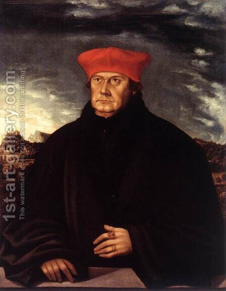Cardinal Matthaus Lang von Wellenburg by Austrian Unknown Master - Reproduction Oil Painting