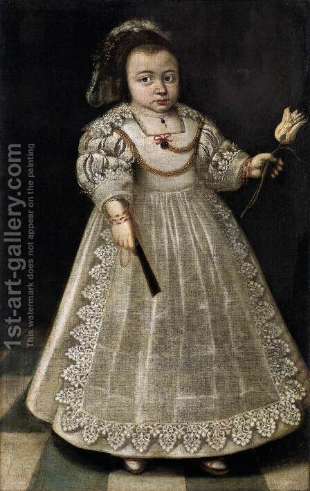 Sara de Peyster at the Age of Two and a Half by Dutch Unknown Masters - Reproduction Oil Painting