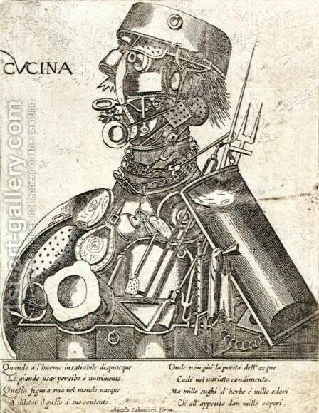 Humani Victus Instrumenta Ars Coquinaria 2 by Italian Unknown Masters - Reproduction Oil Painting