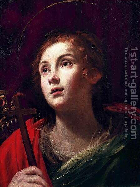 St Margaret by Giuseppe Vermiglio - Reproduction Oil Painting