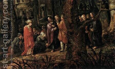 Forest Landscape with Two of Christ's Miracles (detail) by David Vinckboons - Reproduction Oil Painting