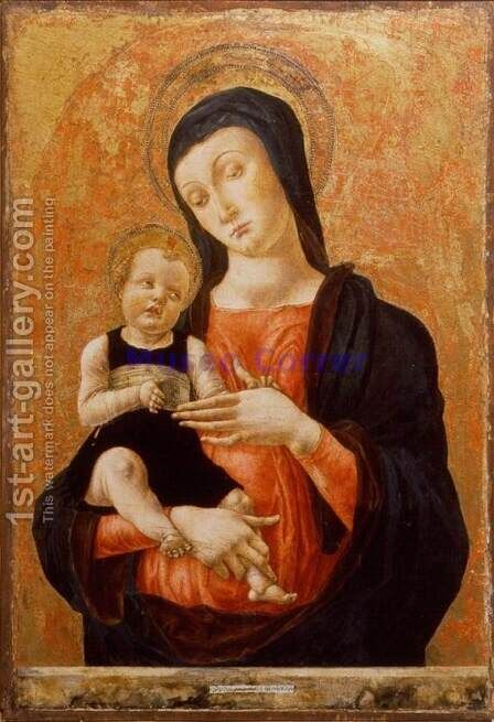 Madonna and Child 3 by Bartolomeo Vivarini - Reproduction Oil Painting
