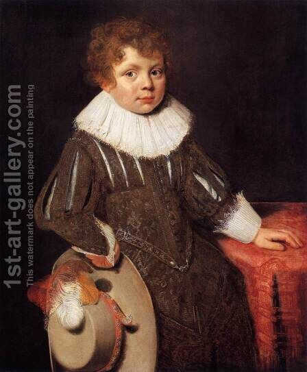 Portrait of a Boy by Cornelis De Vos - Reproduction Oil Painting