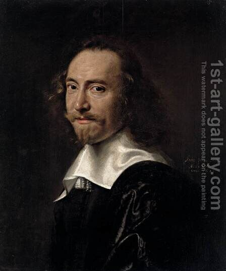 Portrait of a Man by Abraham de Vries - Reproduction Oil Painting