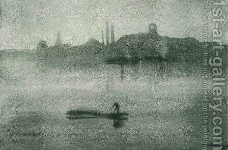 Nocturne The Thames at Battersea by James Abbott McNeill Whistler - Reproduction Oil Painting