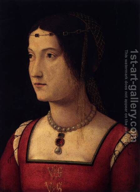 Portrait of a Lady by Bernardino di Bosio (see ZAGANELLI) - Reproduction Oil Painting