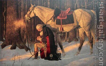 Prayer at Valley Forge by Arnold Friberg - Reproduction Oil Painting
