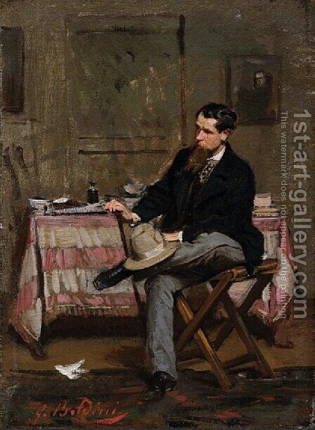 The Painter Vincenzo Cabianca by Giovanni Boldini - Reproduction Oil Painting
