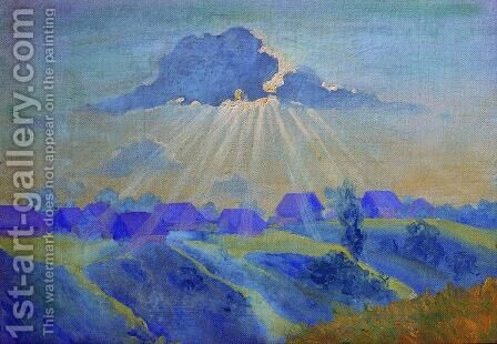 Sunset by Boris Kustodiev - Reproduction Oil Painting