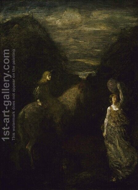 King Cophetua and the Beggar Maid by Albert Pinkham Ryder - Reproduction Oil Painting